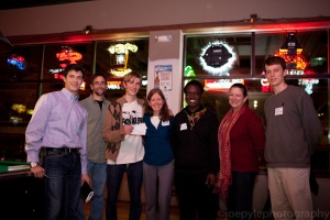 Eli, Kwame, Zach, and friends at the Dream Big pitch event. (C) 2012 Joe Pyle Photography