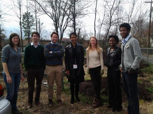 Our friends from the Office of Community Based Public Health at UAMS stopped by the garden last week to see what we were up to. We're looking forward to working with them in the 12th Street area.