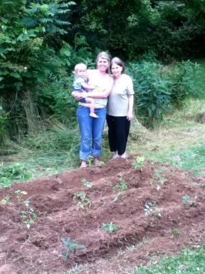 Ashley's & June's Baby Food Garden!