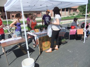 Our farmers market stand